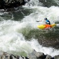 A kayaker drops into Satan's Cesspool.- South Fork of the American River: The Gorge, Greenwood to Salmon Falls Bridge