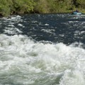 A raft approaches Hospital Bar, Class III.- South Fork of the American River: The Gorge, Greenwood to Salmon Falls Bridge