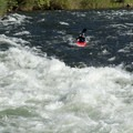 A kayaker chooses a safer outside line on Hospital Bar.- South Fork of the American River: The Gorge, Greenwood to Salmon Falls Bridge