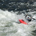 Getting thrown back and soaked from a wave.- South Fork of the American River: The Gorge, Greenwood to Salmon Falls Bridge