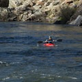 Catching a large eddy to paddle back upstream.- South Fork of the American River: The Gorge, Greenwood to Salmon Falls Bridge