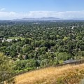 The view from Wasatch Boulevard down onto the town of Holladay.- Around the Valley