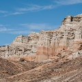 Eroded formations in Red Rock Canyon State Park.- Ricardo Campground
