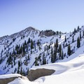 Looking at Sunset Peak from Catherines Pass.- Catherines Pass Backcountry Ski