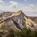 Cherry Peak from Bullen Hole Peak.- White Pine Grand Slam