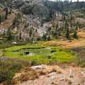Campsite between Heart Lake and the overlook.- Castle Lake Overlook