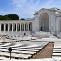 The Memorial Amphitheater at Arlington National Cemetery.- Arlington National Cemetery