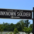 Sign for the Tomb of the Unknown Solider in Arlington National Cemetery.- Arlington National Cemetery