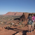 Overlooking the town of Ivins in St. George.- Chuckwalla Trail to Scout Cave