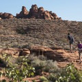 Hiking to Scout Cave in Red Cliffs Desert Reserve.- Chuckwalla Trail to Scout Cave