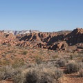 Getting onto Scout Cave Trail.- Chuckwalla Trail to Scout Cave