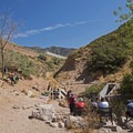The end of the trail and the location of the second watering hole.- Tanner Dog Park