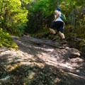 The trail becomes increasingly steep.- Noonmark Mountain