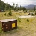 Be bear aware: Use the food storage lockers.- Timber Creek Campground