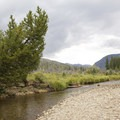 The Colorado River, which supports a population of trout.- Timber Creek Campground