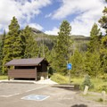 Facilities at the Colorado River Trailhead, where the hike to Little Yellowstone begins.- Little Yellowstone via the La Poudre Pass Trail