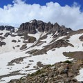 Arriving at a snow field below the Inter Glacier.- Mount Rainier: Emmons-Winthrop Glacier Route