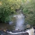 Big Creek from the bridge.- Vickery Creek