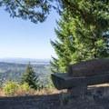 Bench at the summit of Mount Baldy along the Ridgeline Trail.- Ridgeline Trail System: Dillard East Trailhead