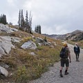 Granite outcroppings, a hallmark of Little Cottonwood hiking.- Albion Meadows Trail to Germania Pass