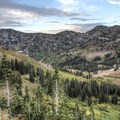 Big views from the route to Albion Meadows.- Albion Meadows Trail to Germania Pass