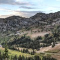 From here you look across Albion Basin to Catherine's Pass.- Albion Meadows Trail to Germania Pass