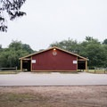 The biggest bathroom on the grounds has showers and hot water.- Burlingame State Park Campground