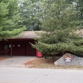 Campground Rec Hall offers indoor games as well as horseshoe.- Burlingame State Park Campground