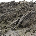 Rock formations along the summit trail of Ypsilon.- Chapin, Chiquita + Ypsilon (CCY Route)