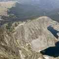 The spectacle lakes below Ypsilon along with one of the Fay Lakes.- Chapin, Chiquita + Ypsilon (CCY Route)