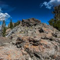 Rocks near the summit of Mount Gog.- White Pine Grand Slam