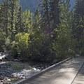 Large bridge early on the trail.- Pine Creek Lake