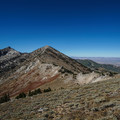 Ascending the pass before Overland Lake.- Ruby Crest Trail
