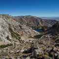 Overland Lake, seen from above.- Ruby Crest Trail