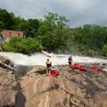 A typical put-in scene on the Raquette River.- Raquette River: Stone Valley