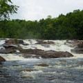 Colton Falls, one of the first rapids on the run.- Raquette River: Stone Valley