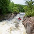 The Narrows' namesake mini-gorge.- Raquette River: Stone Valley