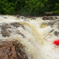 An errant run of the Horseshoe on Colton Falls.- Raquette River: Stone Valley