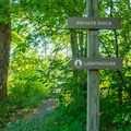 The path is well marked.- Saugerties Lighthouse