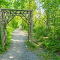 An arch in the path.- Saugerties Lighthouse