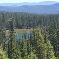 Viewpoint of Windigo Lake.- Cowhorn Mountain