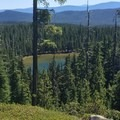 First viewpoint of Windigo Lake.- Cowhorn Mountain