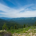 Excellent views downstream on the Selway River canyon.- Shissler Peak Fire Tower