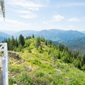 It's possible to climb up the lookout.- Shissler Peak Fire Tower