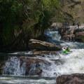 Looking back up at the slides below Gorilla.- Green River Narrows