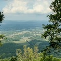 View from the East Overlook.- House Mountain Loop