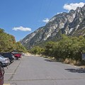 Not a bad view from a parking lot, right?!- Little Cottonwood Trail