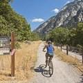 Biking the Little Cottonwood Trail.- Little Cottonwood Trail