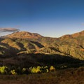 Panorama of Mount Nebo from the scenic byway.- Mount Nebo + North Peak