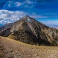 Mount Nebo above Wolf Pass.- Mount Nebo + North Peak
